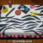 Zebra Makeup Cake