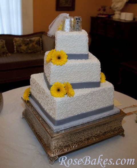 gray and yellow wedding cake gray yellow wedding cake vanilla cake