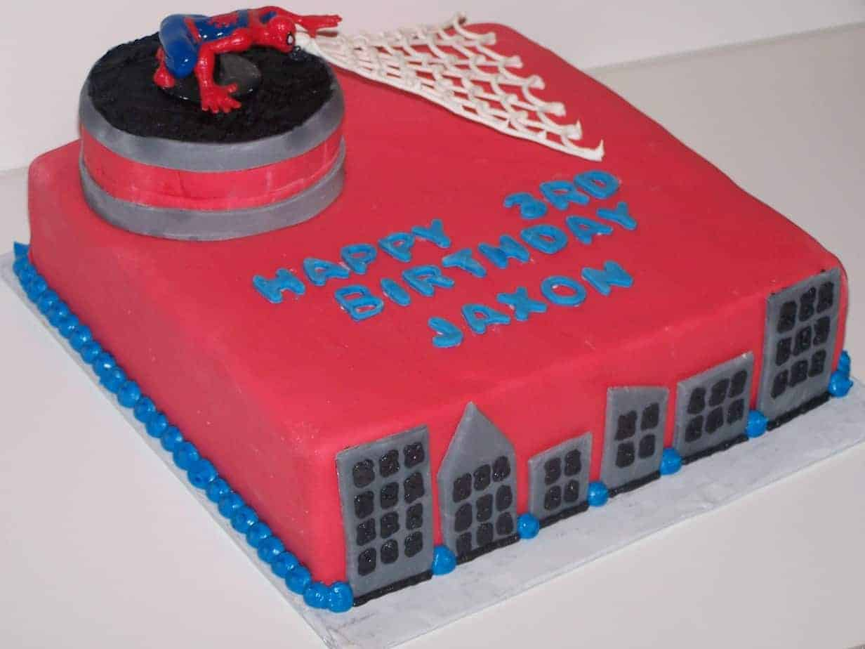 Spiderman Fondant Cake Decorating