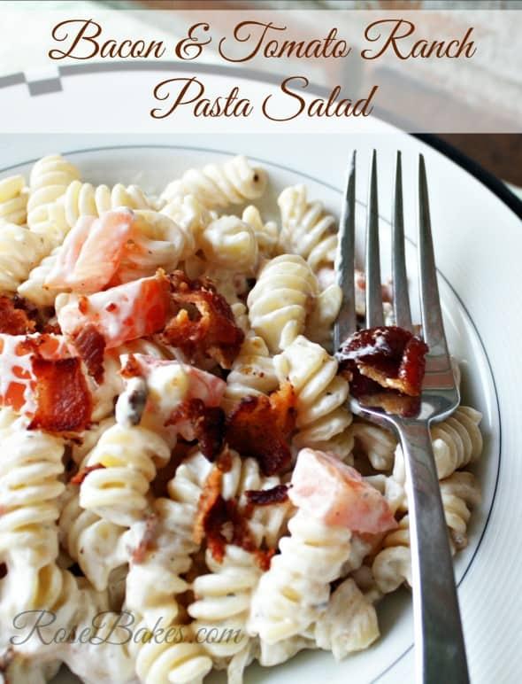 Bacon & Tomato Ranch Pasta Salad