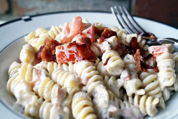 Bacon Tomato Ranch Pasta
