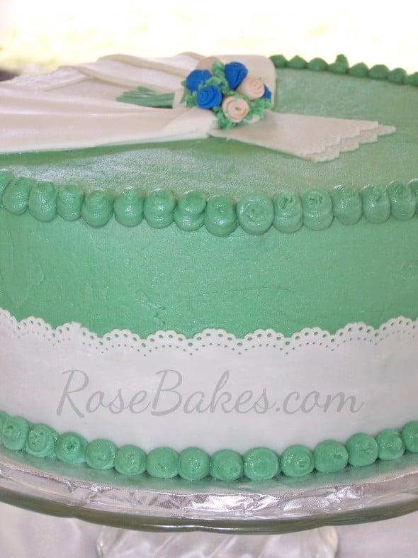 Bridal Shower Wedding Dress Cake Side