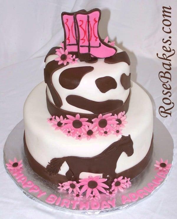 Tremendous Cowgirl Horse Birthday Cake Funny Birthday Cards Online Alyptdamsfinfo