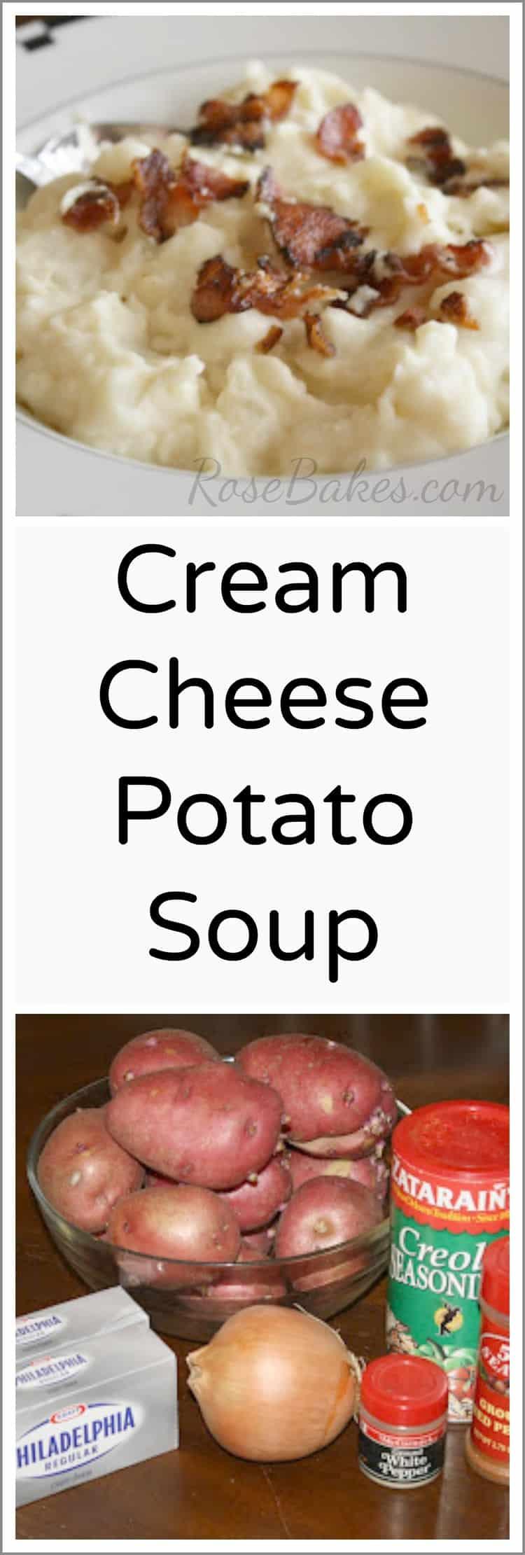 Cream Cheese Potato Soup Recipe from Rose Bakes
