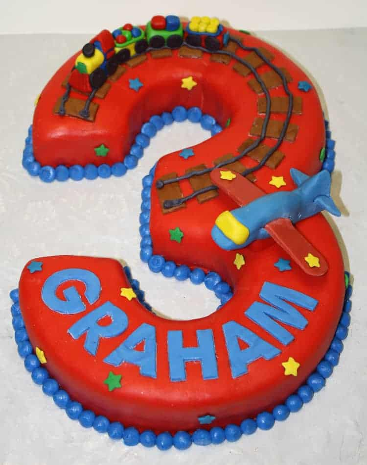 Images Of Train Birthday Cakes : Train & Plane Birthday Cake