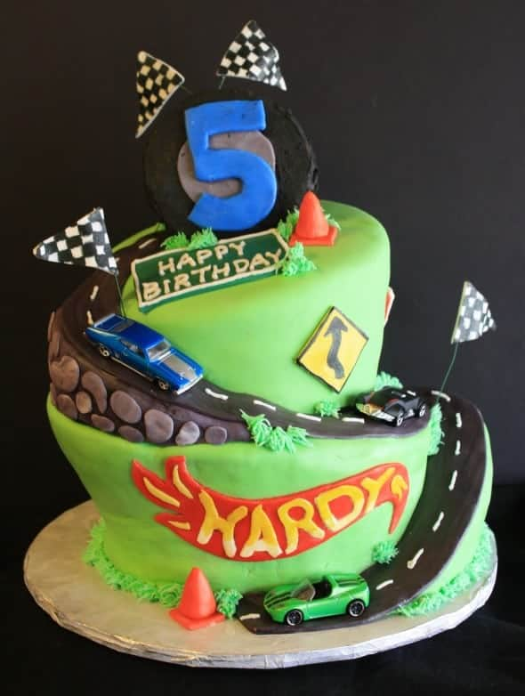 Wonky Hot Wheels Cake