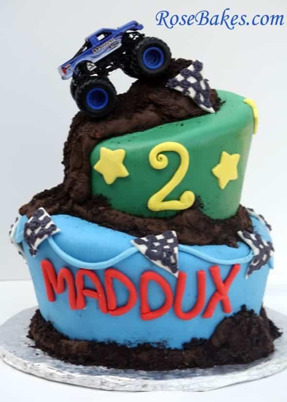 Wonky Monster Truck Cake Full