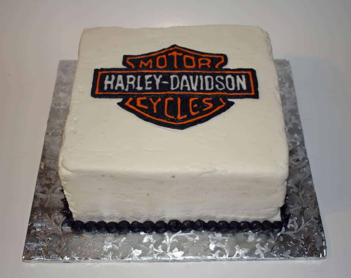 How Much Is A Harley Davidson >> A Harley-Davidson Cake...in Buttercream