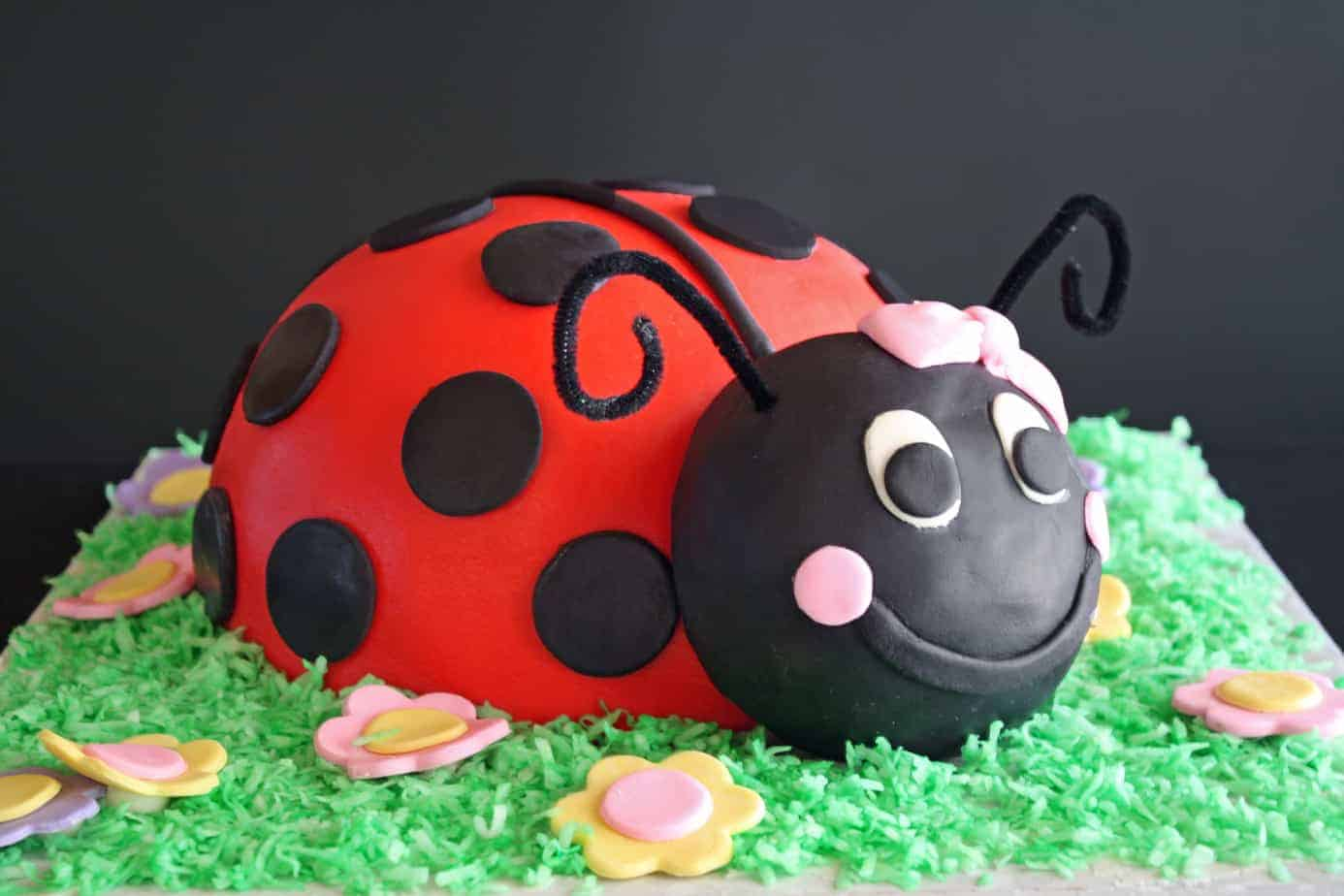 How To Make A Ladybug Cake From Cupcakes
