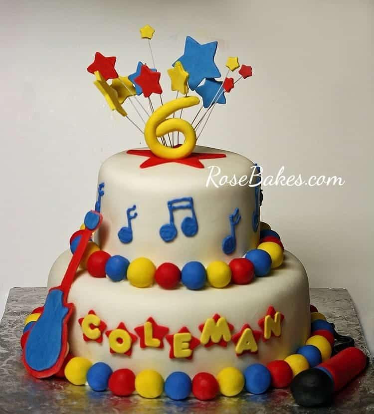 Swell Rock Star Birthday Cake Funny Birthday Cards Online Kookostrdamsfinfo