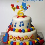 Music Rock Star Guitar Stars Cake