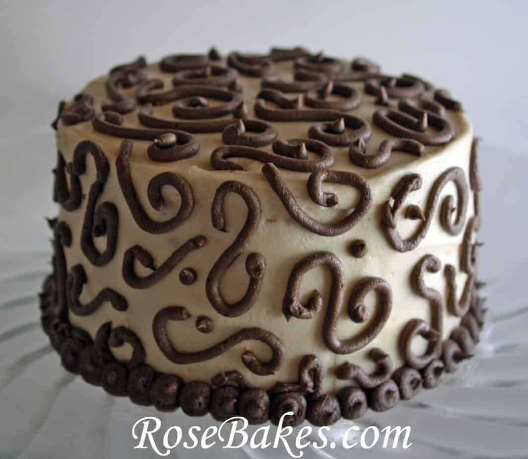 Vanilla Coffee Cake with Coffee Buttercream