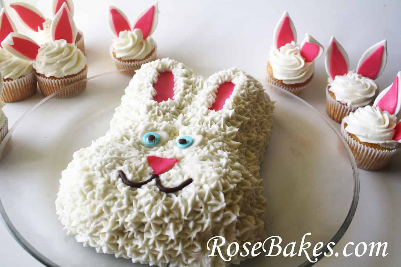 HAPPY EASTER... with Easter Bunny Cake, Bunny Cupcakes, & Easter ...