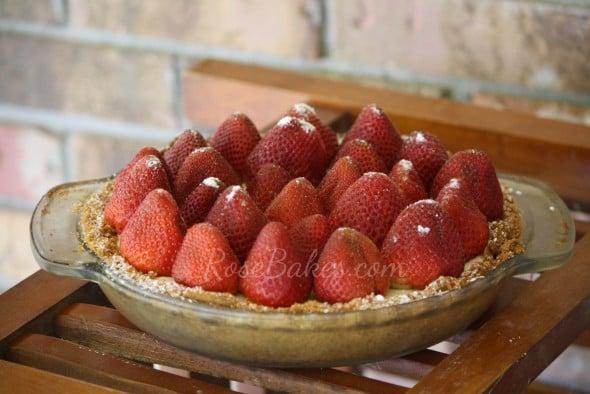 Strawberry Cheesecake Pie Whole