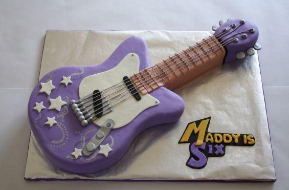 Hannah Montana Guitar Birthday Cake