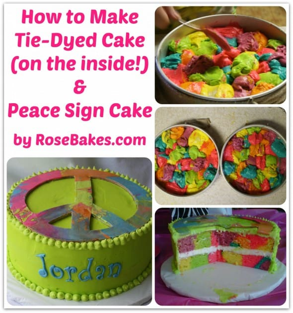 How to Make Tie-Dyed Cake