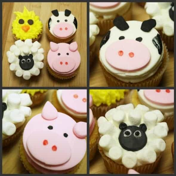 Orders and one order for cupcakes she wanted barnyard animals