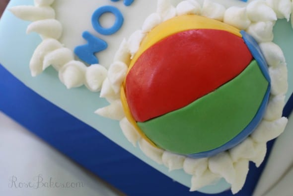 Beach Ball on Pool Cake