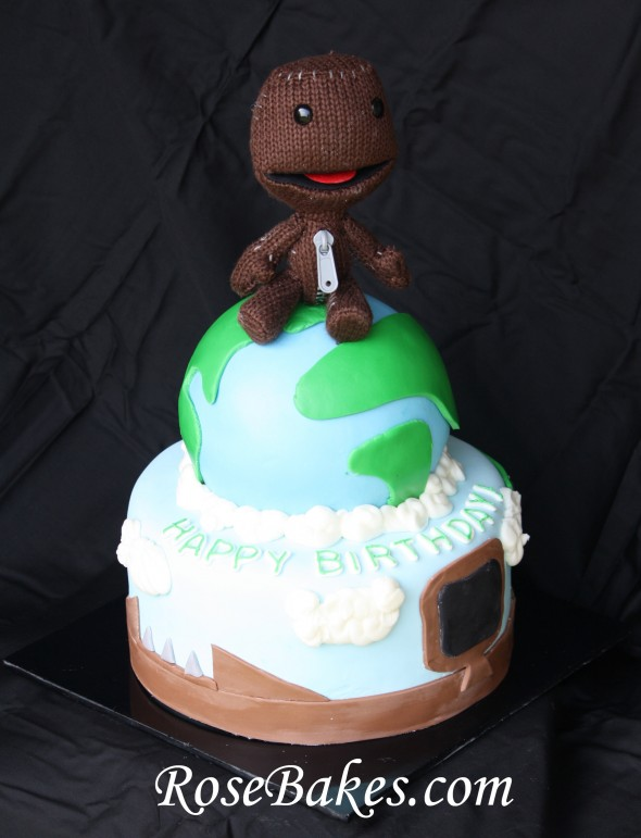 Pleasing Little Big Planet Birthday Cake Personalised Birthday Cards Veneteletsinfo