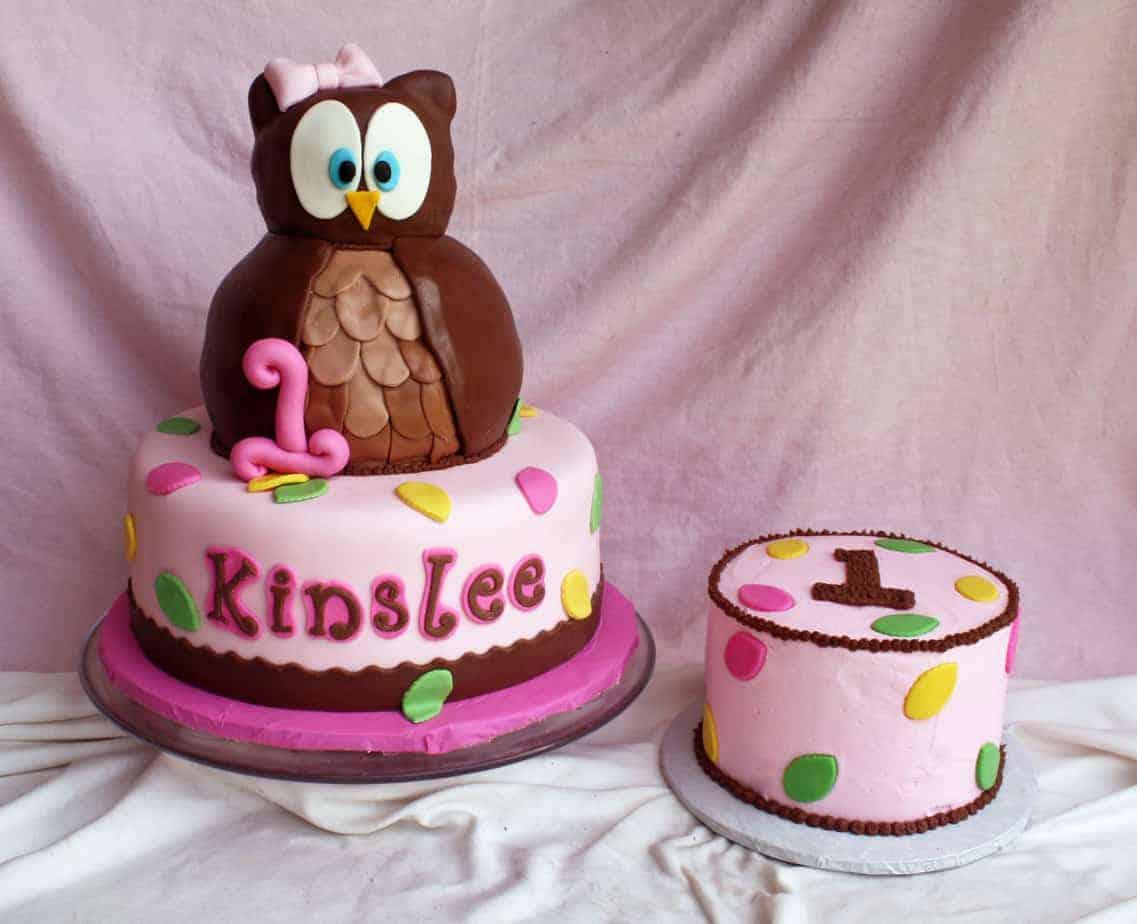 Look Whoos1 Kinslee Owl Cake