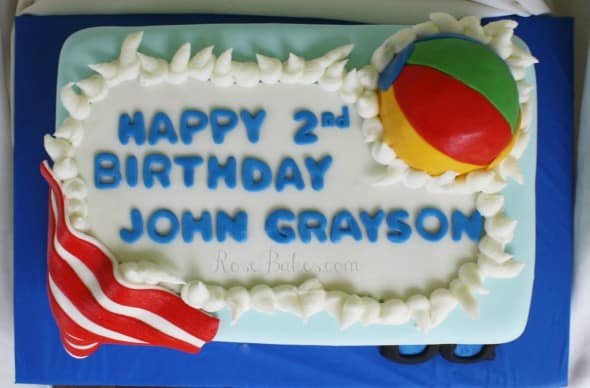 Pool Party Cake Top