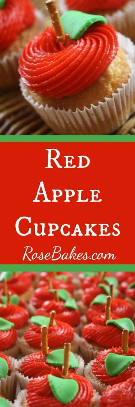 Red Apple Cupcakes | RoseBakes.com