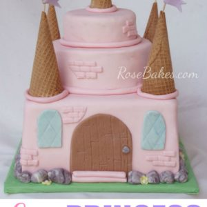 Easy Princess Castle Cake