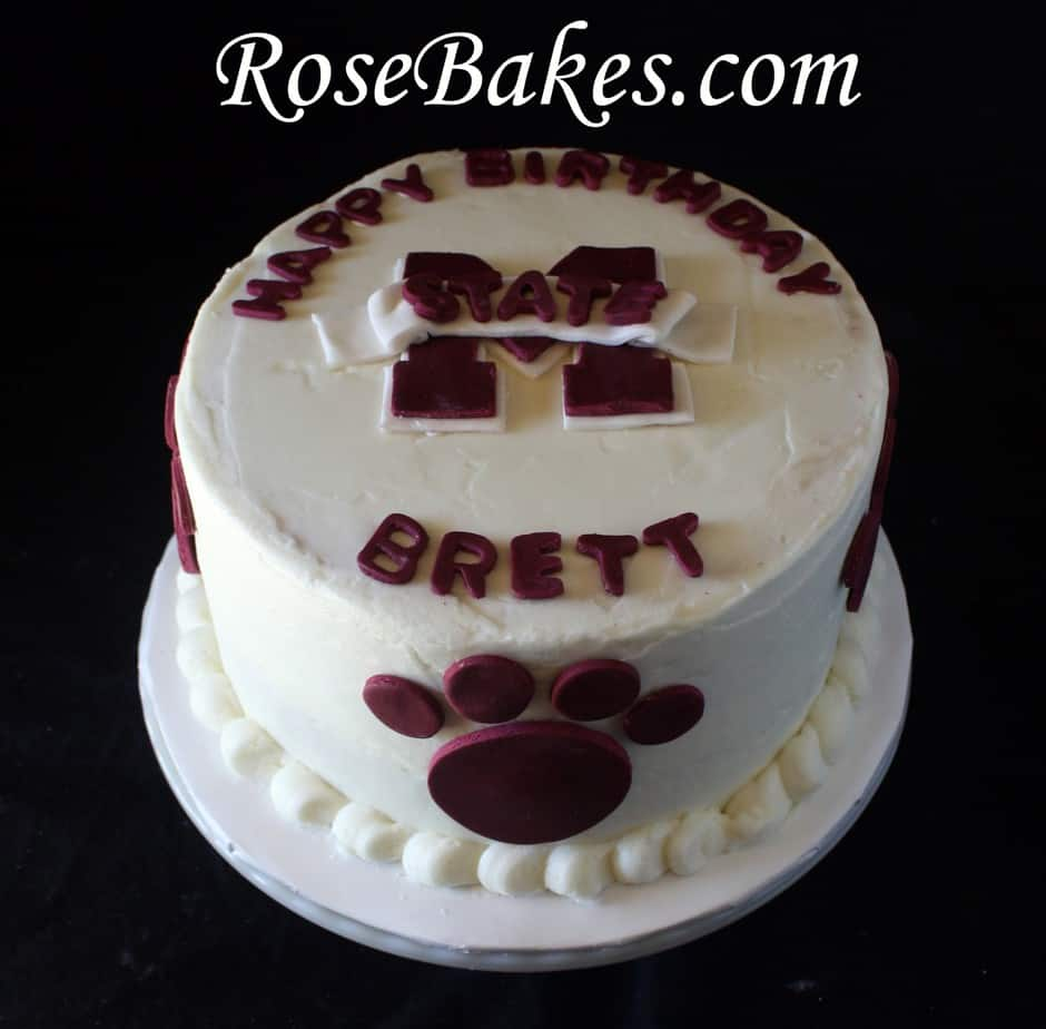 Mississippi State University (MSU) Birthday Cake