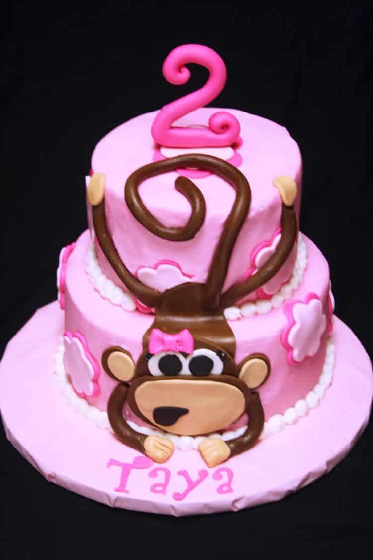 Rose Bakes A Pink Monkey Cake