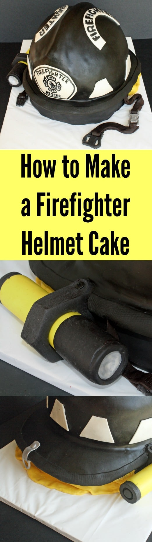 How to Make a Firefighter Helmet Cake