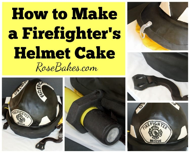 How to Make a Firefighter's Helmet Cake