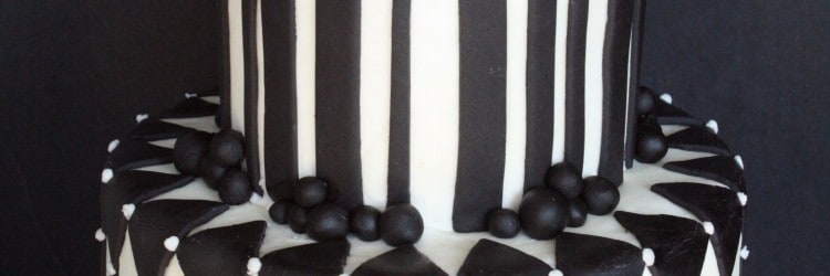 Black & White 50th Birthday Cake