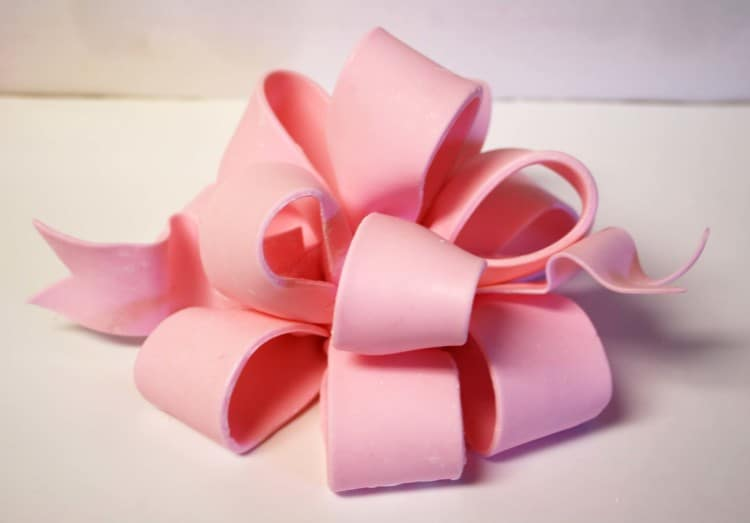 How to Make Pink Loopy Fondant Gum Paste Bow