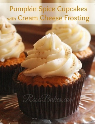 Pumpkin Cupcakes With Pumpkin Spiced Cream Cheese Frosting Recipe ...