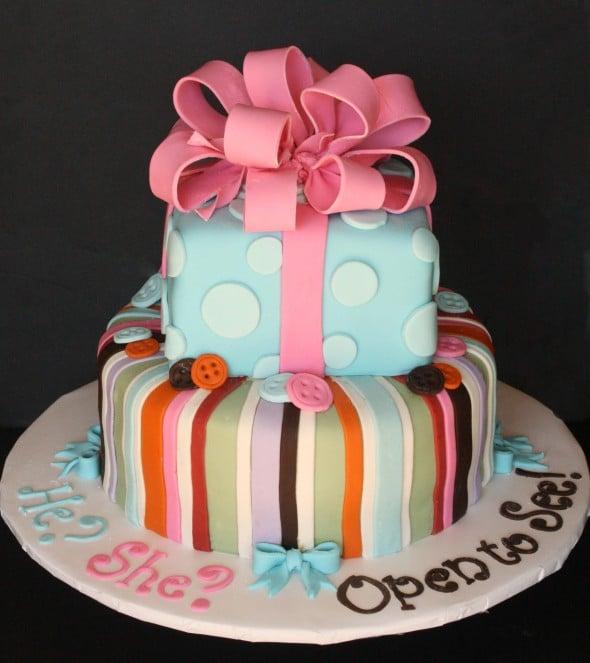Baby Gender Reveal Cake Best Front