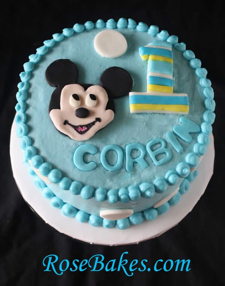 Baby Mickey Smash Cake Rose Bakes