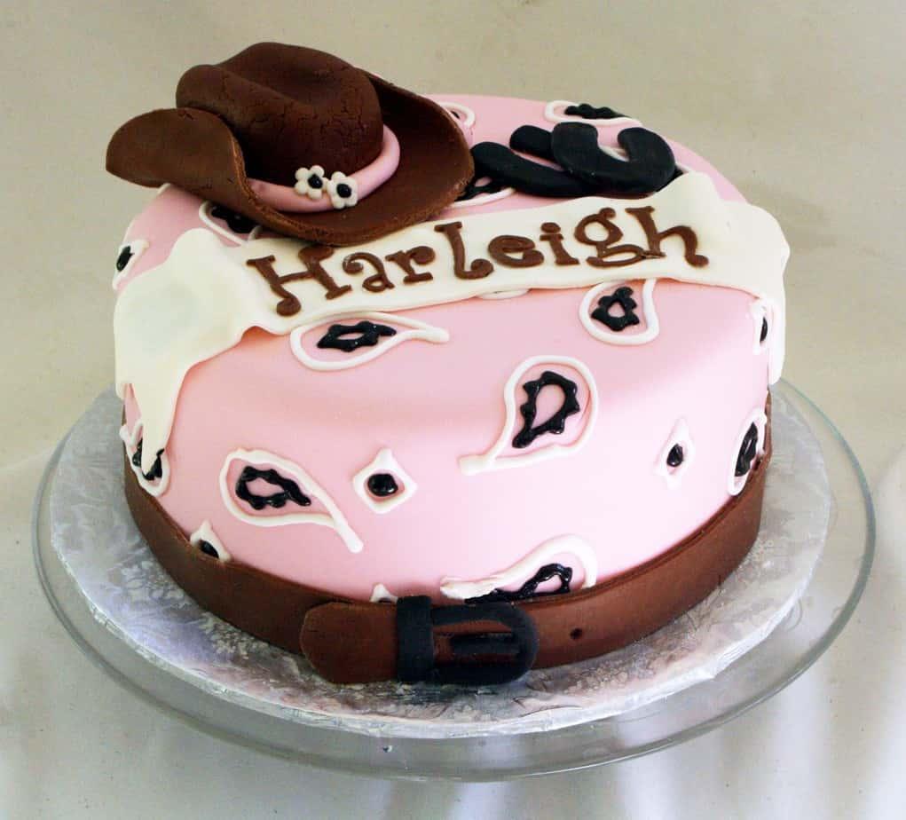 Outstanding Cowgirl Birthday Cake Rose Bakes Personalised Birthday Cards Bromeletsinfo