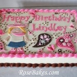 Cowgirl Cake with Butterflies and Paisleys 2