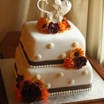 Fall Wedding Cake with Logo