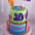 Flip Flops Beach Surfboard Theme Cake 2