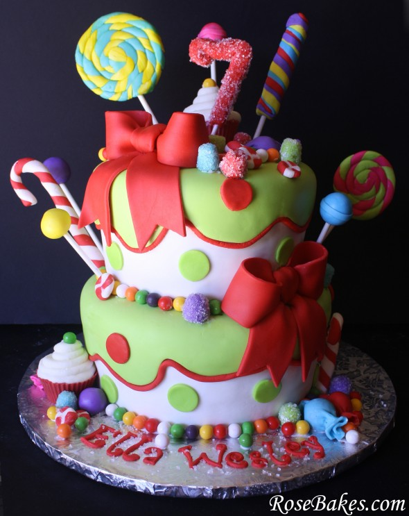 Holly Jolly {Christmas} Candy Birthday Cake