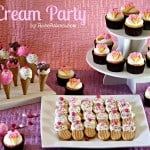 Ice Cream Party with Cake Pops, Cupcakes & Cookies
