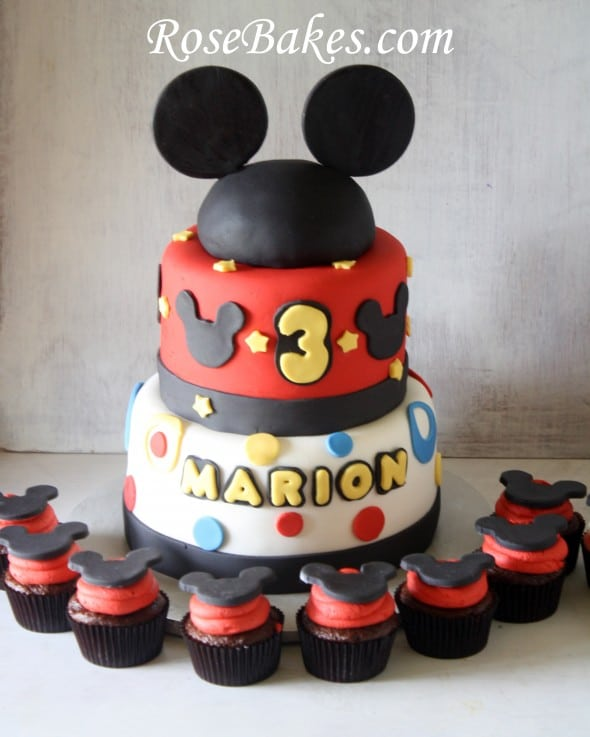 Mickey Mouse Rd Birthday Cake