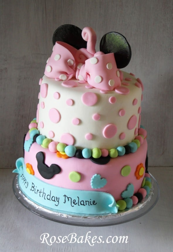 How To Make A Polka Dot Fondant Bow A Minnie Mouse Bow Rose Bakes Fascinating Minnie Mouse Designer Cake Decorating Kit