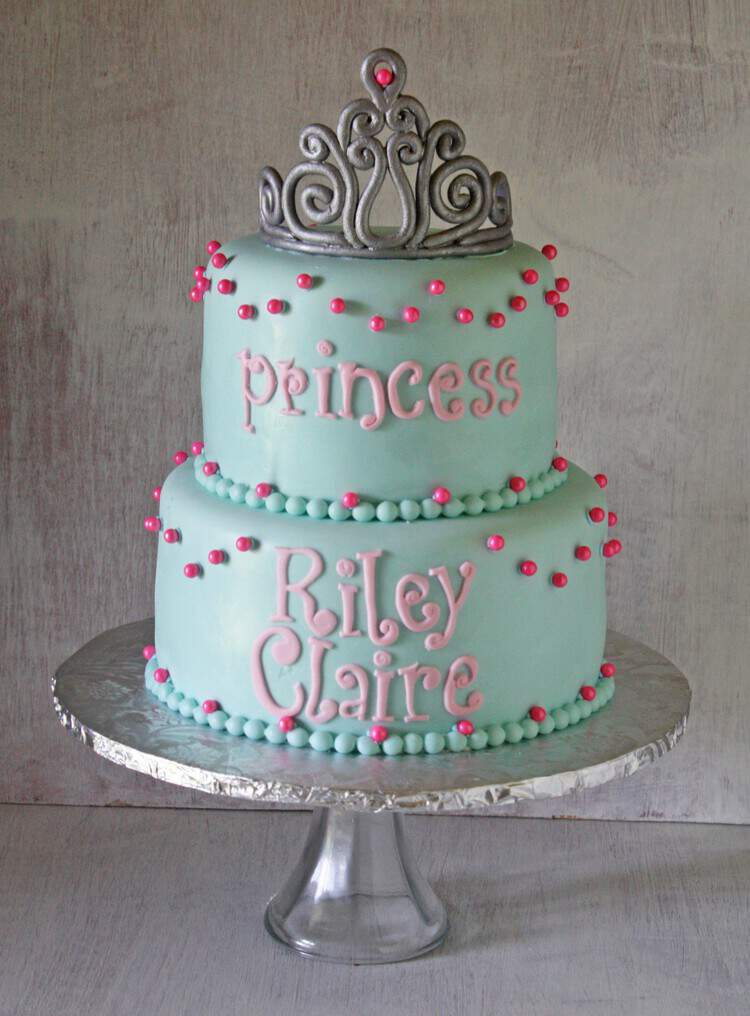 Princess Tiara Birthday Cake Rose Bakes