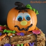 Pumpkin Cake on Hay Bale