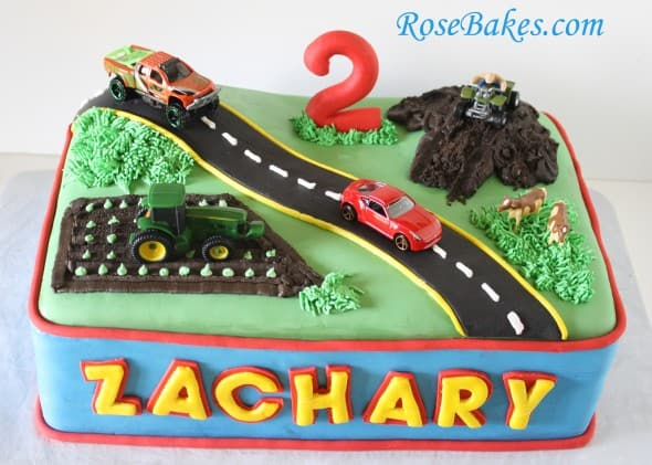 Transportation Cake Car Truck 4-Wheeler Tractor Cows
