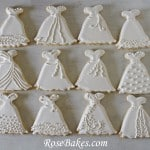 Wedding Dress Cookies Variety