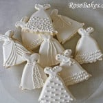 Wedding Dress Cookies on Platter