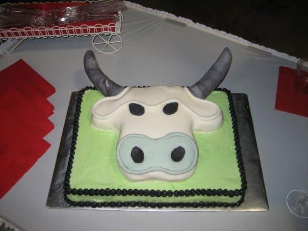 White Bull Cake